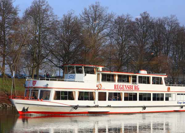 Riverboat in Regensburg, Germany (All photos by Ron Stern)