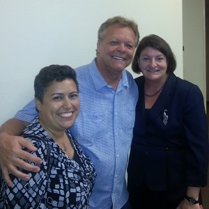 Luke Terpstra with Toni Duran and Assembly Speaker-emeritus Toni G. Atkins (Courtesy of Hillcrest Town Council)