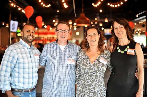 Anahid Brakke (far right) attended the Hunger Coalition's Fete to Fight Hunger event in 2015. (Courtesy of Mixte Communications)