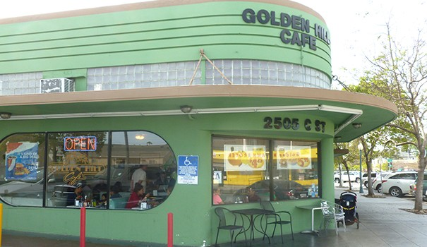 Art Deco architecture is preserved at Golden Hill Café. (Photos by Frank Sabatini Jr.)