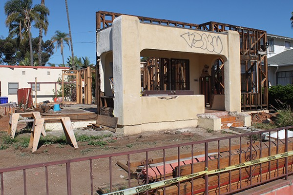 There goes the neighborhood: not a good example of an environmentally sensitive remodel. (Photo by Michael Good)
