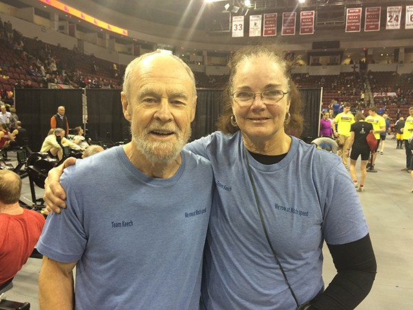 Andy Keech with his coach Patti Pinkerton (Photo by Peter Billings)