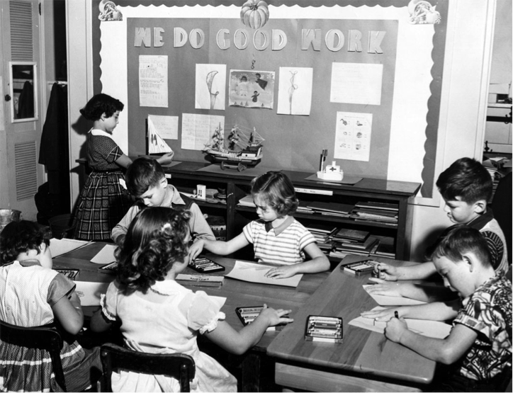 McKinley Elementary School students do good work in 1954, and they continue to do so generations later. (Courtesy of McKinley Elementary School)