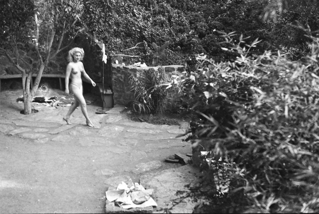 Historical photographs dating back to 1935 reveal glimpses of Zoro Garden, a nudist colony that existed during the 1935-36 California-Pacific International Exposition in Balboa Park. (Courtesy of Weldon Jones)