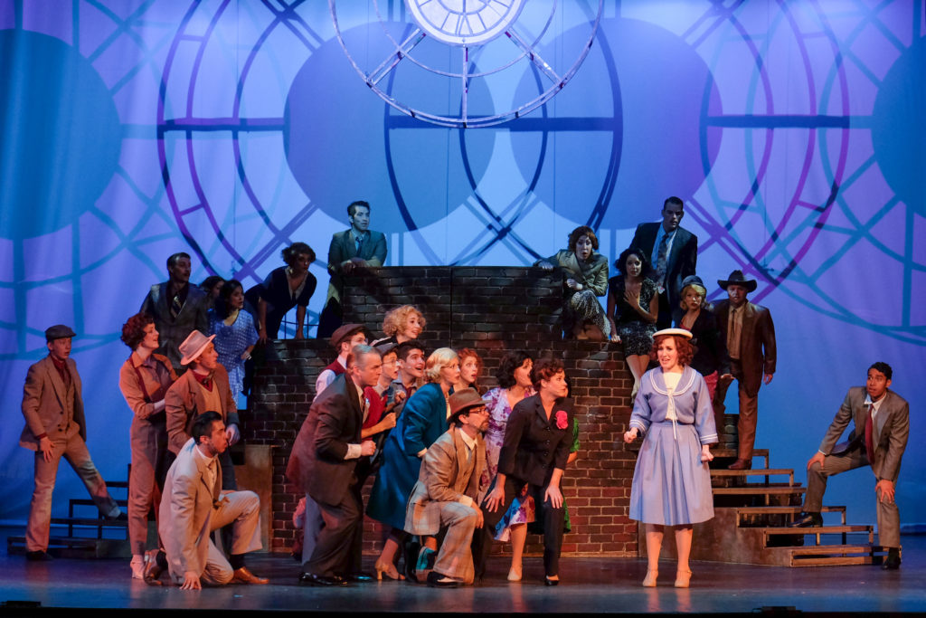 "Scenes from ""42nd Street,"" presented by San Diego Musical Theatre at Spreckels Theatre (Courtesy of SDMT)"