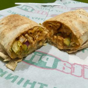 The Buffalo chicken pita