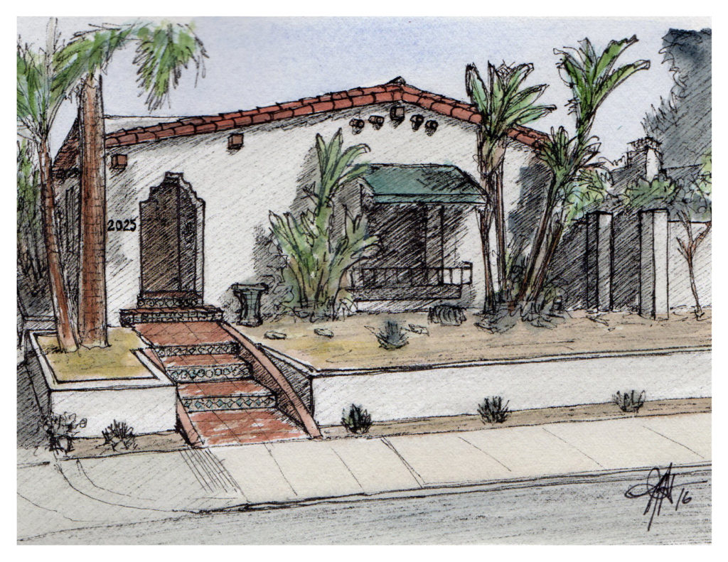 An artist's rendering of a house in South Park that will be on the home tour, and which is featured in this article (Illustration by Brandon Hubbard)