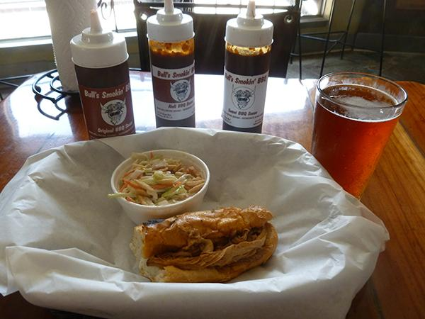 Beer, sandwich and saucesweb