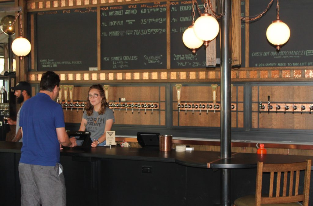 For now North Park Beer Co. offers only its own selections. (Photo by Michael Good)