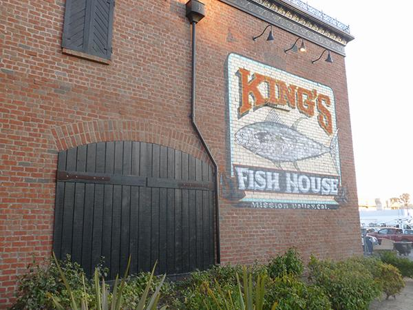An all-brick building distinguishes King's Fish House in Mission Valley (Photo by Frank Sabatini Jr.)