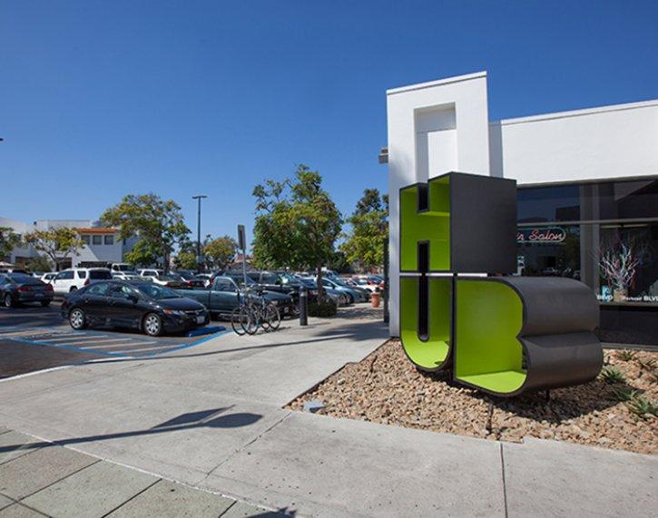The Hub, the newly redesigned shopping area in the center of Hillcrest, is up for both an Orchid and an Onion. (Courtesy SDAF)