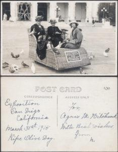 A postcard from 1915 (Courtesy John Earl Collection, Panama-California Exposition Digital Archive)
