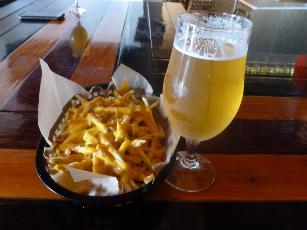 Fries and beer