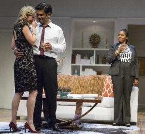 "Allison Spratt Pearce and Ronobir Lahiri in a scene from ""Disgraced"" at San Diego Repertory Theatre"