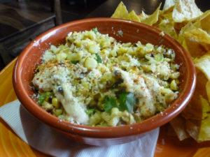 Street corn with poblano crema
