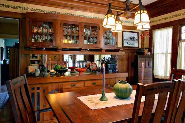 Craftsman home furniture Mission Style Craftsmen Homes Valued Skilled Carpentry And Furniture With Clean Simple Lines San Diego Uptown News Historic Home Tour Craftsman Then And Now San Diego Uptown News