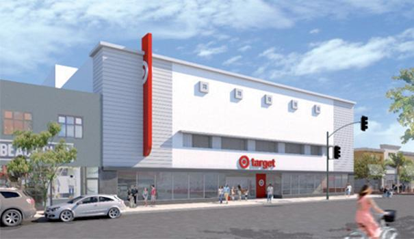 a11715e121a3c5 Exterior rendering of Target s North Park small-format store. (Target)